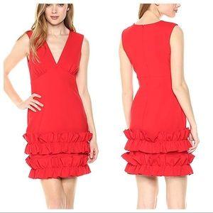 •Nicole Miller• Stretchy Ruffle Bottom Dress
